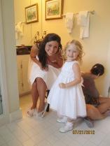 Bride Maggie, Flower Girl Jenna