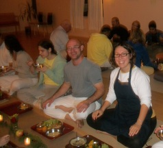 Happy Yogis at Mealtime
