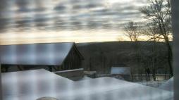 Snowfall over the Catskills