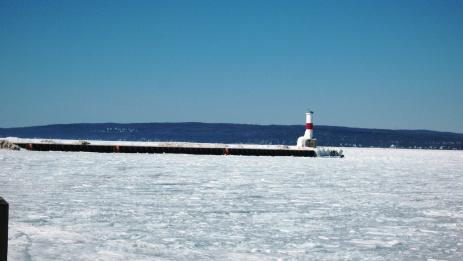 Ice Locked Lighthouse