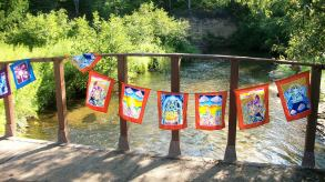 Flags on the Pigeon River